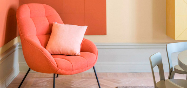 Living Coral color 2019 interiores