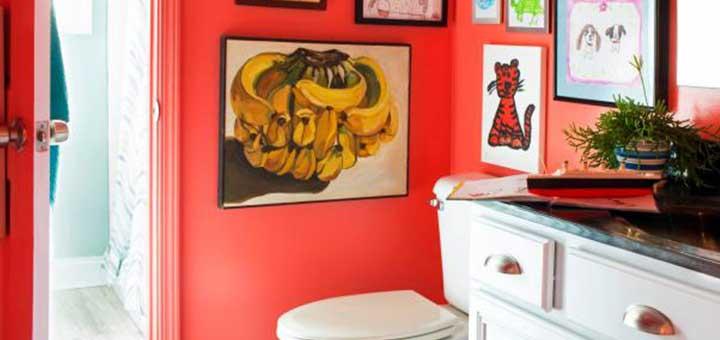 Departamento de Ciudaris con baño rojo