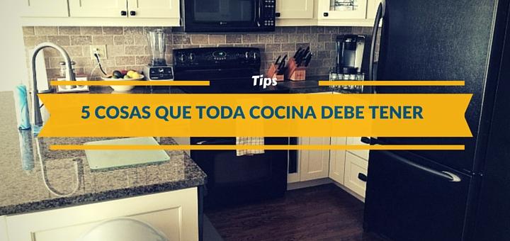 Cinco cosas que toda cocina pequeña debe tener