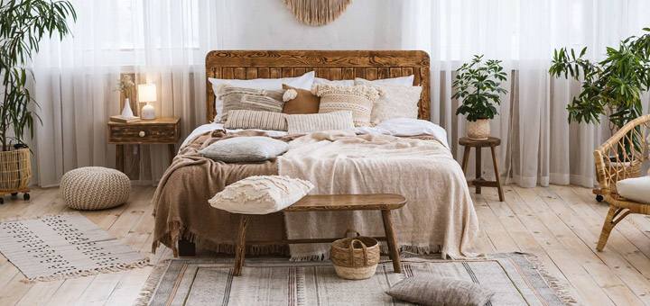 dormitorio alfombras boho