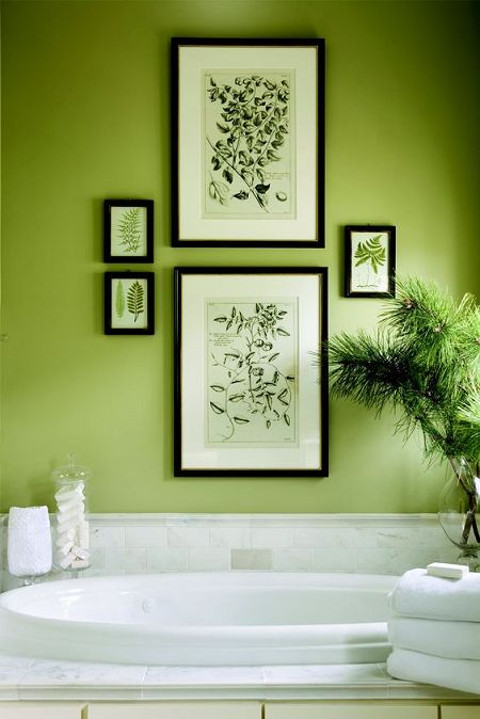 Decoración de interiores Greenery