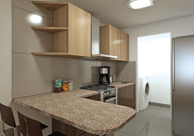 C mo limpiar el granito de tu cocina en tu departamento for Cocinas de departamentos