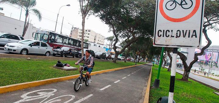 ciclovía cerca de departamentos en Jesús María
