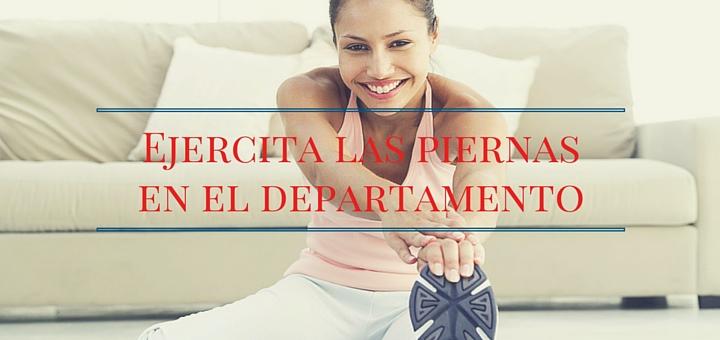 Ejercicios en el departamento: entrenamiento de piernas