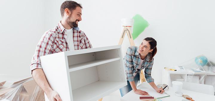 elige mobiliario simple
