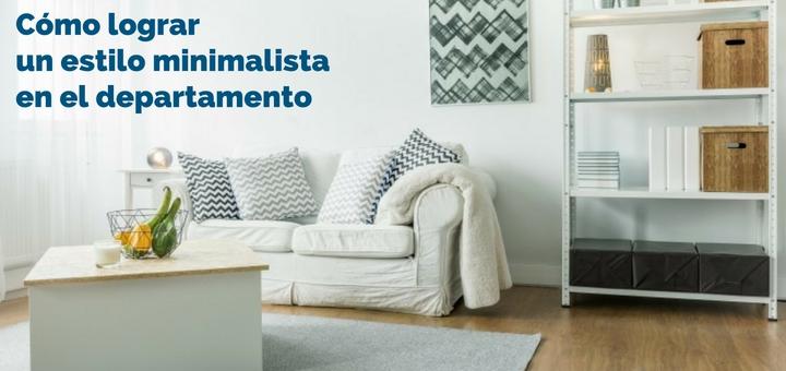 C mo lograr un estilo minimalista en el departamento for Departamentos decorados estilo minimalista