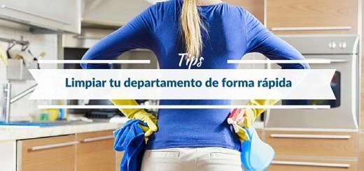 ¿Cómo limpiar un departamento de forma rápida y eficiente?