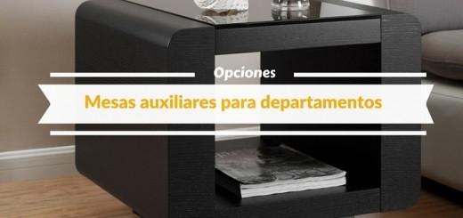 5 opciones de mesas auxiliares ideales para departamentos