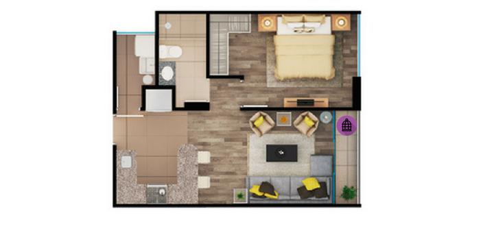 departamento de una habitación