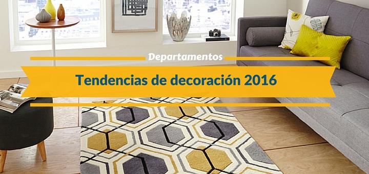 Las principales tendencias de dise o para departamentos en for Diseno de interiores tendencias 2016